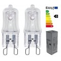 10 x G9 Clear ECO Halogen Capsule Light Bulbs 28W = 40W 240V