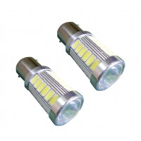 2 x BA15S White 600 LUMEN 12V 24V LED Sidelight Car Bulbs 1156 P21W G18.5