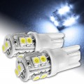 2 x 24V T10 10 SMD LED Bright Sidelight Wedge Bulbs W5W 501 White