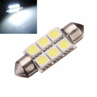 2 x 40mm 6 SMD 24V LED Car Interior Dome White Light Bulbs