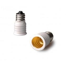Edison Screw E12 to E14 Lamp Light Socket Adapters Base Converters