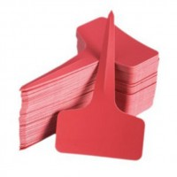 50 x Plastic T-Type Plant Tree Labels Tags Markers 10cm x 6cm Red
