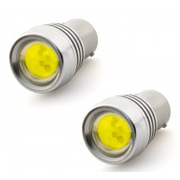 2 x BA15S 12V Bright White COB LED Light Bulbs 1156 P21W