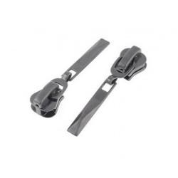 2 x 5mm Pull Tab Zipper Zip Slider Metal Fix Repair Kit Black Jacket Coat