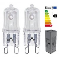 10 x G9 Clear ECO Halogen Capsule Light Bulbs 18W = 25W 240V