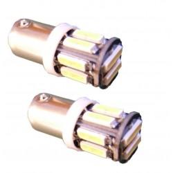 2 BA9S PURE White 10 SMD LED Car Side Light Bulb 12V 24V 233 T4W 360 3893