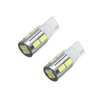 2 x T10 10 SMD LED Sidelight Bulbs W5W 501 White Number Plate 12V 168 194