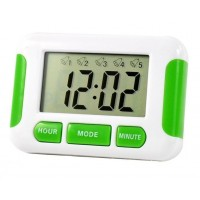 Digital Clock with 5 x Separate Alarms Timer Pill Box Reminder Memory Aid