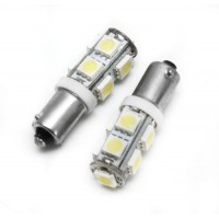 2 BA9S PURE White 12 SMD LED Car Side Light Bulb 12V 24V 233 T4W 360 3893