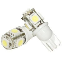 2 x T10 5 SMD LED Sidelights Wedge Bulbs W5W 501 White 12V