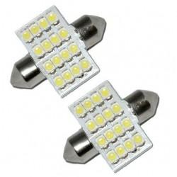 2 x 30mm White 16 SMD LED Car Interior Dome Light Bulbs 12V DE3022