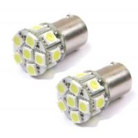 2 x BA15S 12V 24V PURE White 13 LED SMD Sidelight Bulb 1156 P21W