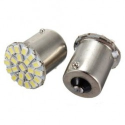 2 x BA15S 22 LED SMD Tail White Sidelight Bulb 12V 24V 1156 P21W