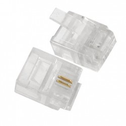 100 x RJ11 2 Pin ADSL Telephone Cable End Connectors Plugs 6P2C