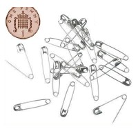 Small Silver Mini Safety Pins 2cm 20mm